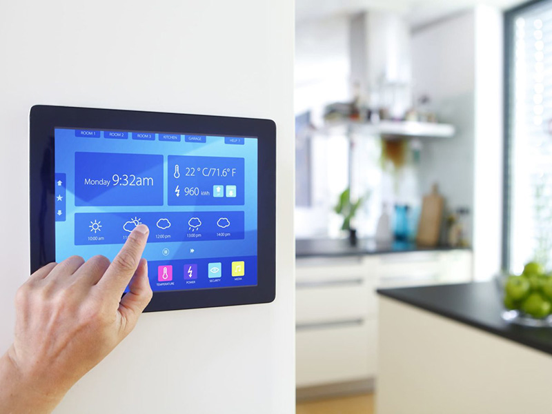 Fictive application controlling the modern house